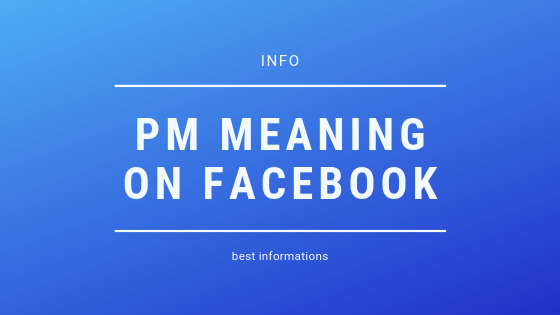 What Is A Pm On Facebook<br/>