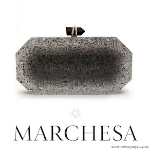 Princess Madeleine carried MARCHESA Beth Silver Glitters Clutch
