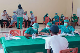 806 Masyarakat Tanut Ikut Vaksin Massal Dosis Kedua di Larat