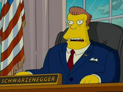 Arnold Schwarzenegger The Simpsons Movie 2007 animatedfilmreviews.filminspector.com