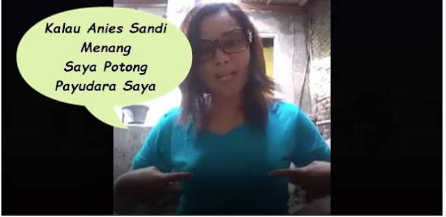 Gila! Wanita Pendukung Ahok Ini Nazar Potong Anunya Jika Anis-Sandi Menang, Videonya Jadi Viral