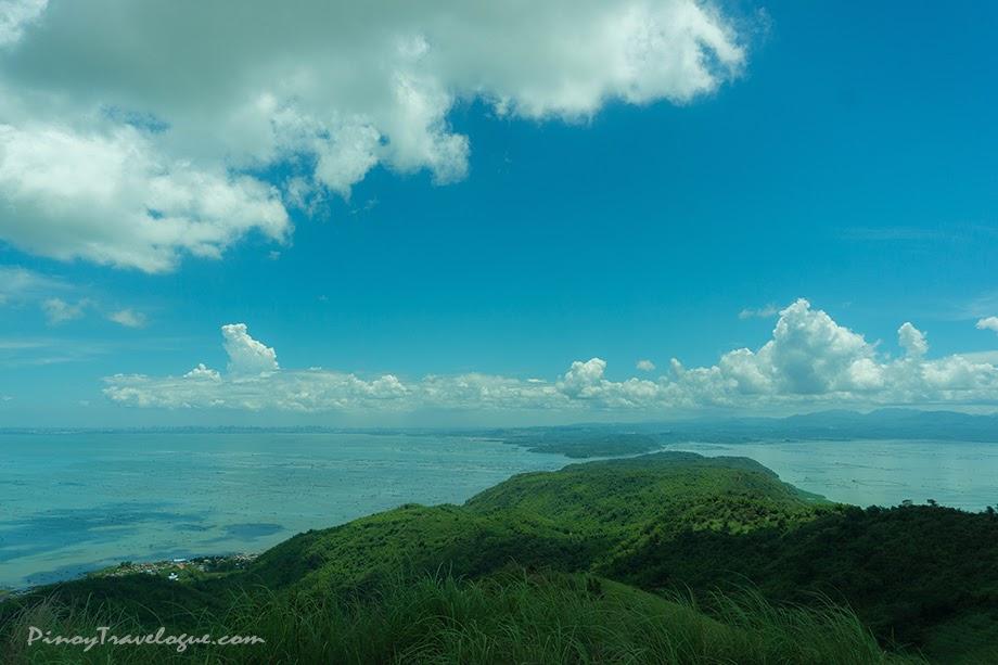 Tips of Binangonan (mainland Luzon) and Talim Island