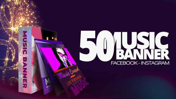 50 Music Banners After Effects Project