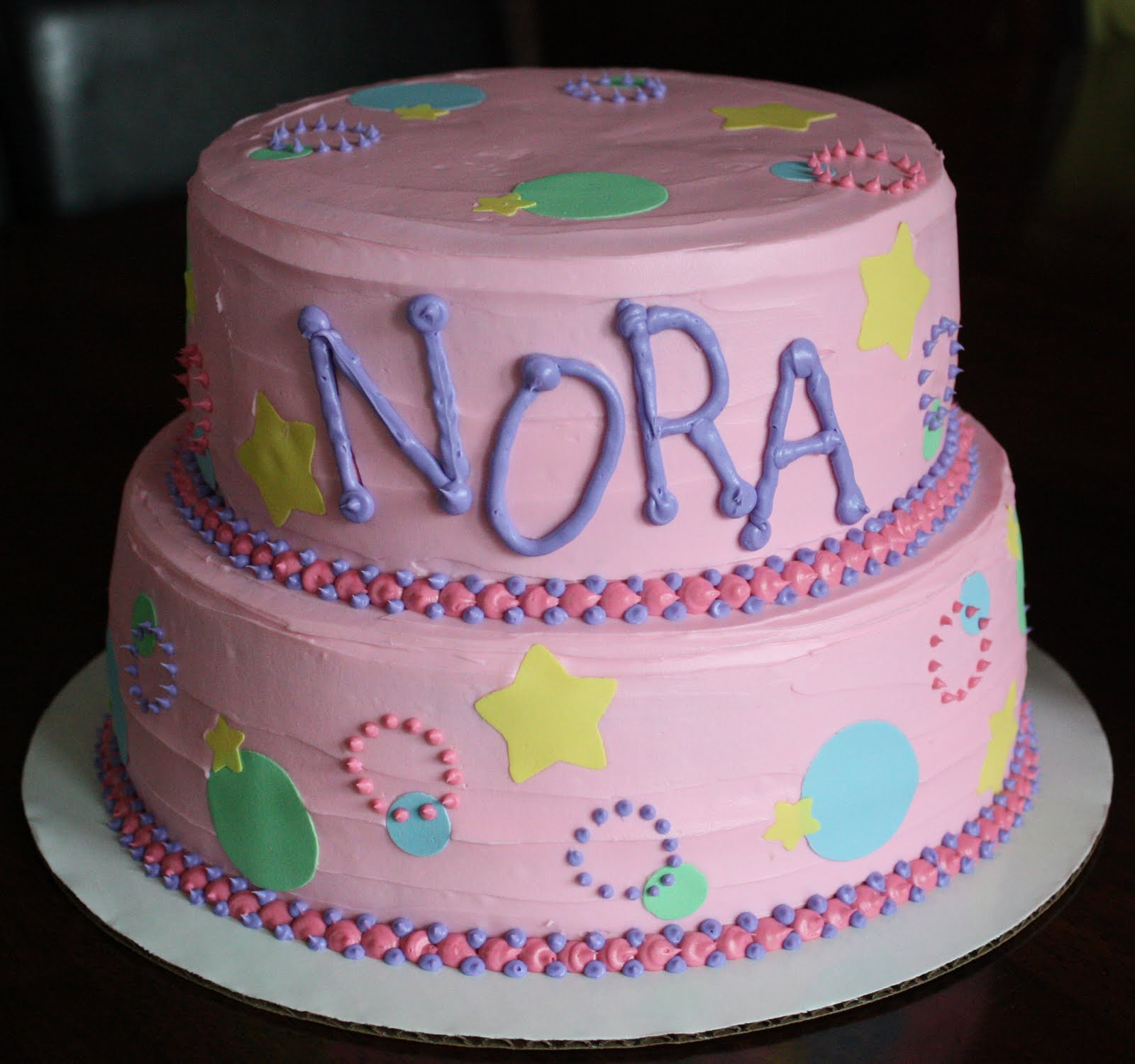 Straight To Cake Nora S 1st Birthday Dots Circles And