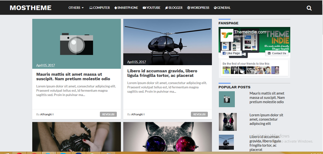 Mostheme High CTR Responsive Blogger Templates