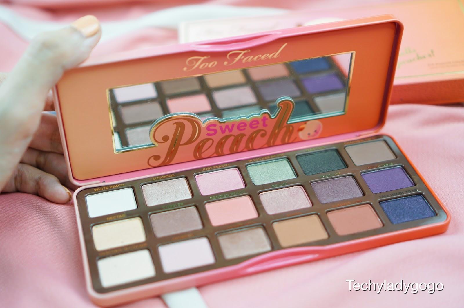 Too Faced Sweet Peach Eyeshadow Palette รีวิวพาเลทอายแชโดว์ สีพีชกลิ่นหอมหวาน