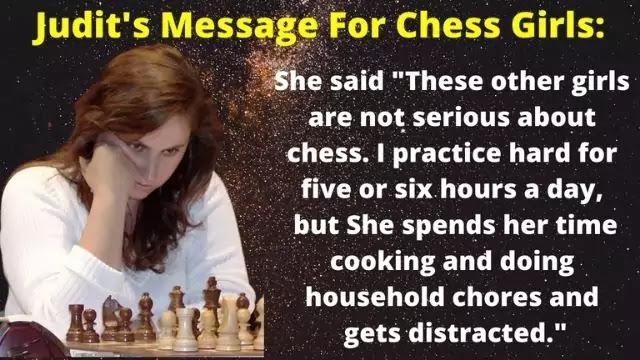 Judit's Message For Chess Girls