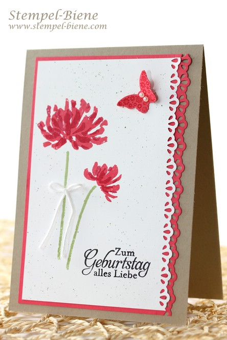 Sommerliche Geburtstagskarte, Stampin' Up Too Kind, Stampin Up Natur-Nah, Stampin' Up Jahreskatalog 2014-2014, Stampin' Up Stempelparty buchen