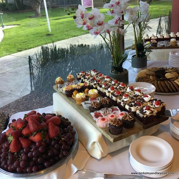Sunday brunch dessert spread at Flamingo Conference Resort & Spa in Santa Rosa, California