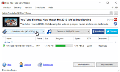 Free YouTube Downloader Screenshot