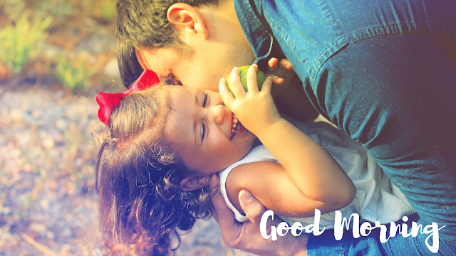 With father Happy Baby Good Morning Images