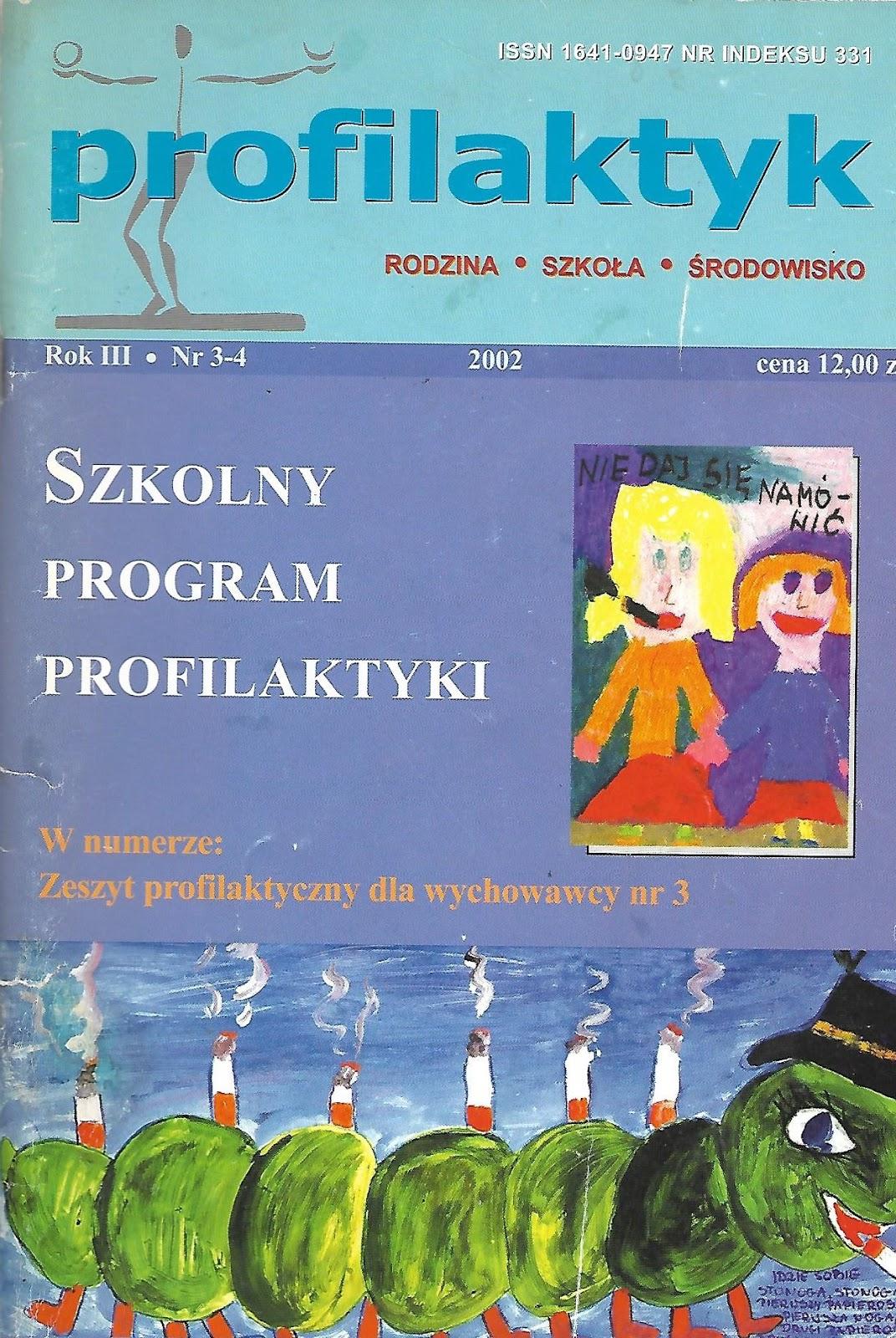 Dobry psycholog Warszawa w numerze pisma Profilaktyk