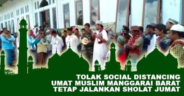 Umat Muslim di Manggarai Barat Menolak Social Distancing