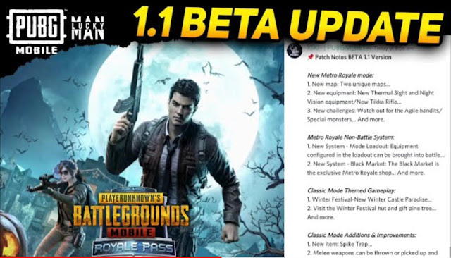 PUBG Mobile 1.1 Beta Update Patch Notes Revealed
