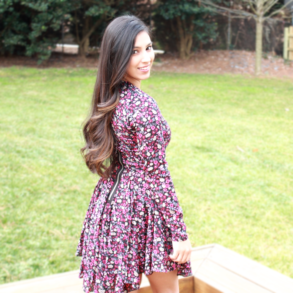 Floral Swing Dress Simply Sabrina Sleeves Monday February 2 2015