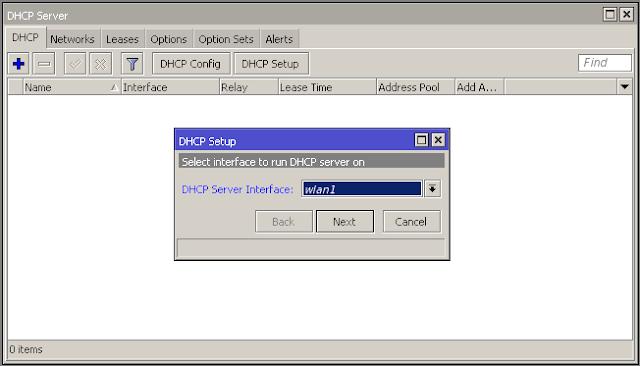 Cara seting dhcp server untuk wifi mikrotik