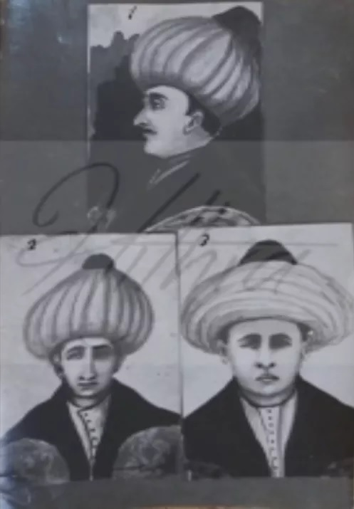 Engravings of 3 brothers of Skanderbeg poisoned in the mansions of Sultan Murad