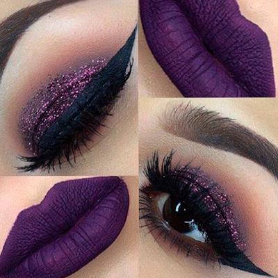 Foto 5 maquiagem lilas pele negra