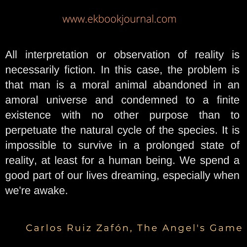 Carlos Ruiz Zafon | The Angel's Game Quote