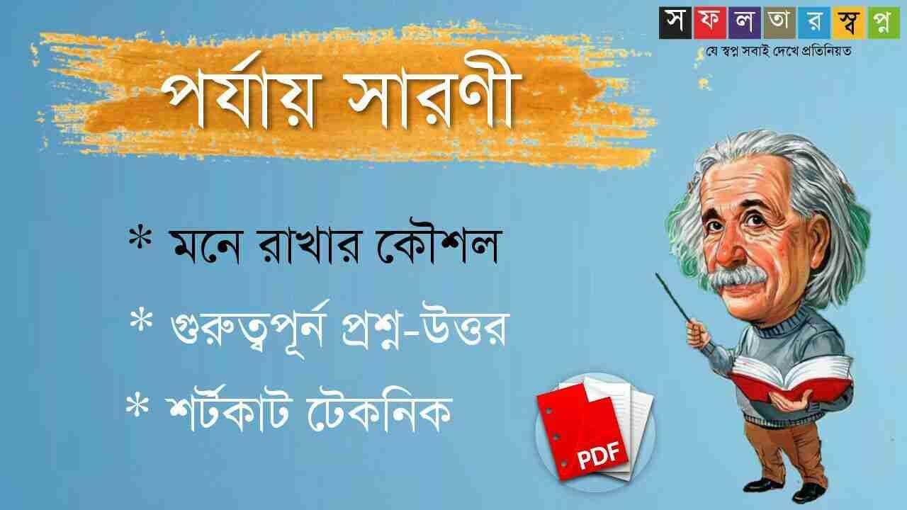 পর্যায় সারণী প্রশ্ন উত্তর PDF Download-Periodic Table in Bengali
