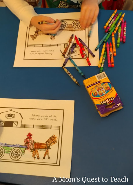lapbook activity for A Christmas in the Barn