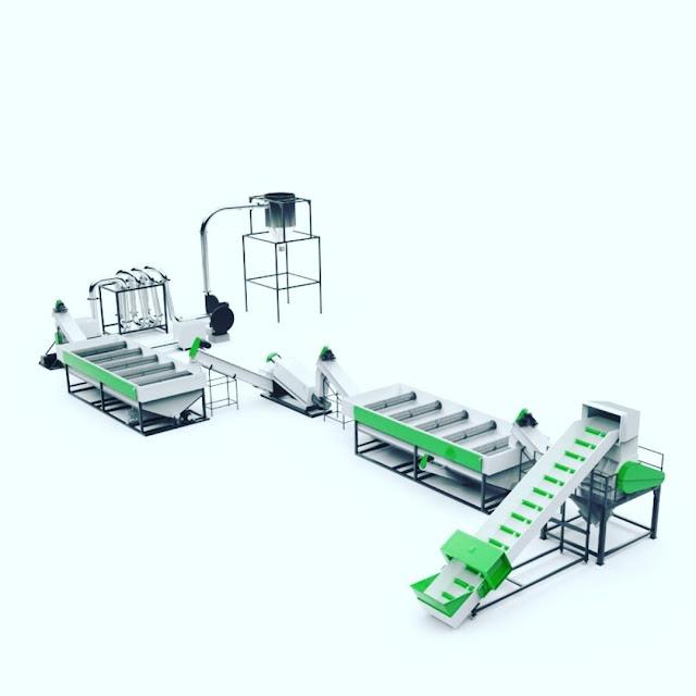 Plastic Washing Recycling Line, Plastic Recycling Machine, Single Screw Recycling Machine