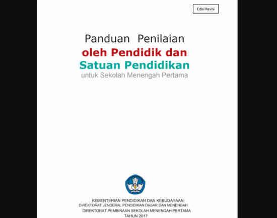 Panduan Penilaian Kurikulum 2013 SMP Tahun 2017