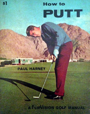 Golfer Paul Harney on the cover of a book