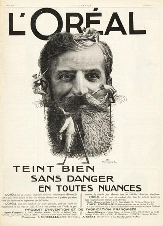 L'Oréal ad 1915