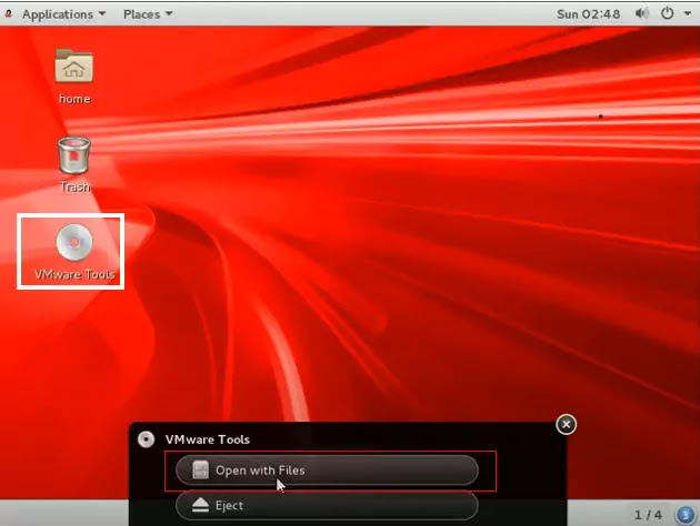 VMware tools install in Oracle