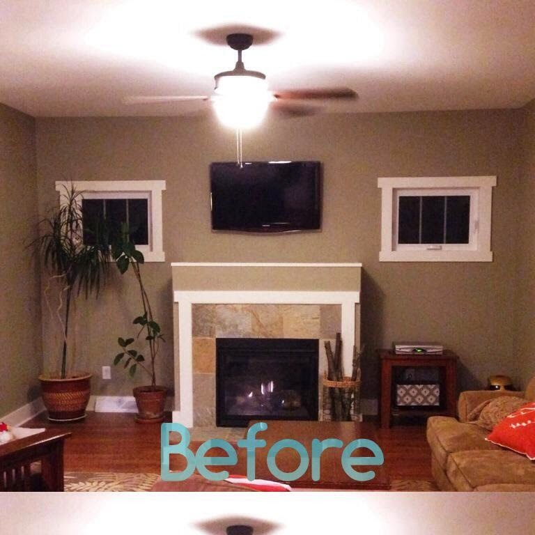 Before And After Merging Two Rooms Has Created A Super: Family Room Makeover