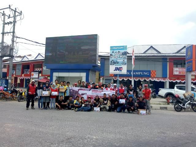 Gempa Palu dan Donggala, PMI dan 15 Club Motor di Lampung Barat Galang Dana