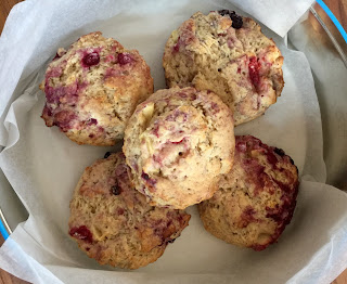 Apple and Blackberry Scones