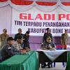 Pemerintah, TNI dan Polri Gelar Apel Gabungan  dan Gladi Posko Tim Terpadu Penanganan Konflik Sosial di Bone