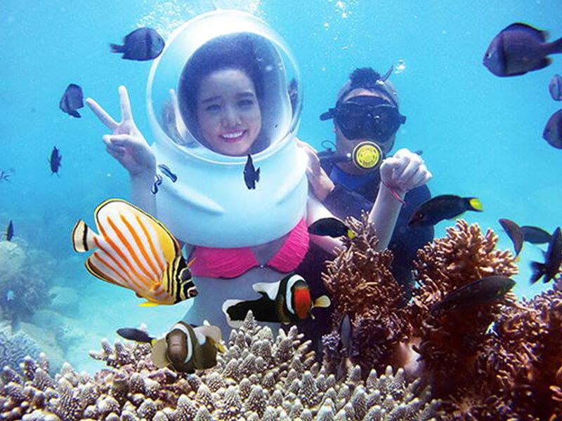 Vé đi bộ ngắm san hô - Sea Trek Cù Lao Chàm