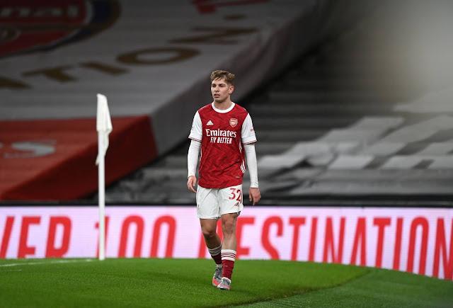 Arsenal midfielder Emile Smith Rowe