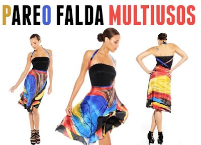 Pareos falda transformables multiusos