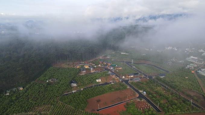 Cảnh  tuyệt đẹp từ Flycam tại thiên đường nghỉ dưỡng B'lá , Bảo Lâm - Lâm Đồng