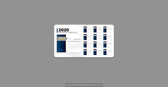 Plantilla de calendario 2020 profesional de negocios