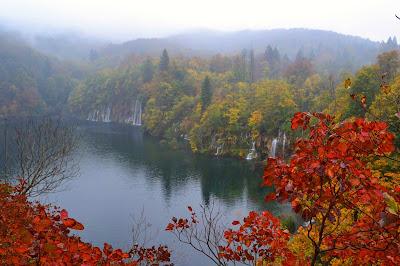 Autumn leaves Plitvice Croatia