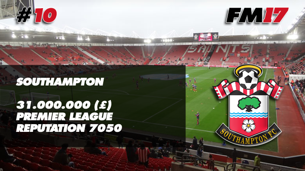 Football Manager 2017 Southampton Transfer Budget