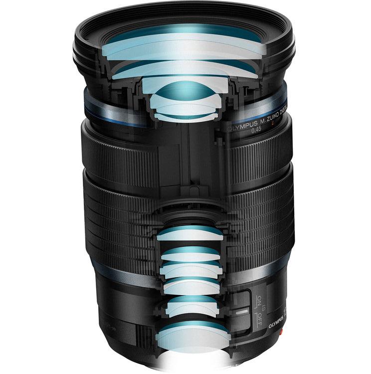 Оптическая схема объектива Olympus M.Zuiko 12-100mm f/4 Pro