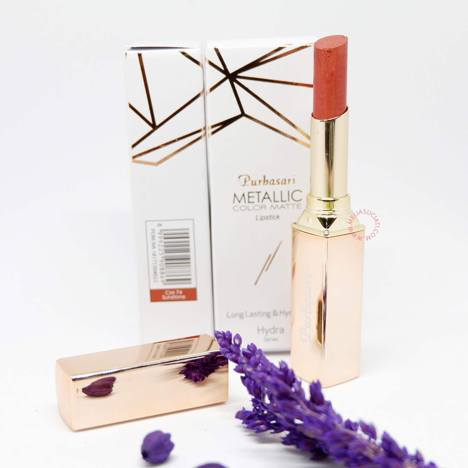 Purbasari Metallic Color Matte Lipstick Review dan Swatch