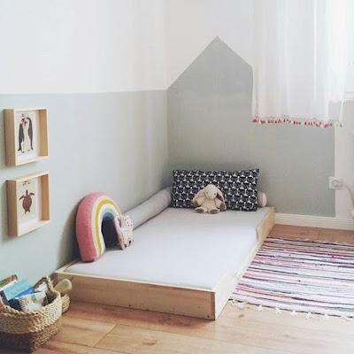 60 Desain Kamar Tidur Anak Lesehan  Praktis Nyaman dan
