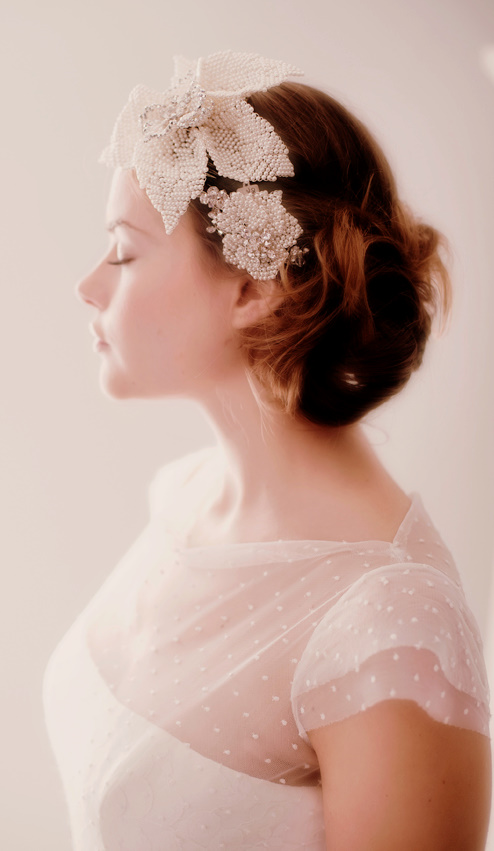 Spotted Tulle On Wedding Dress A Touch Of Flowers And