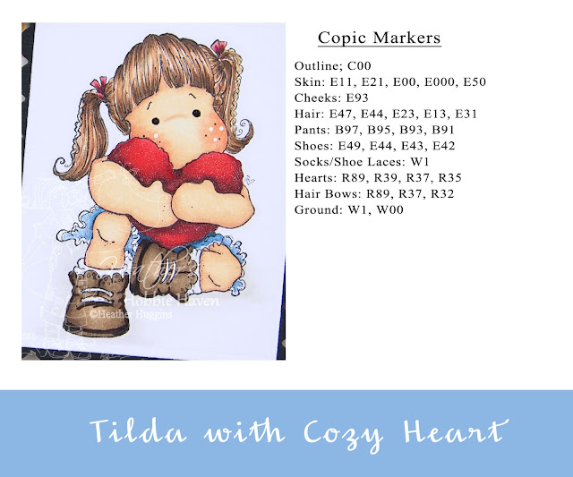 Heather's Hobbie Haven - Tilda with Cozy Heart Card Kit