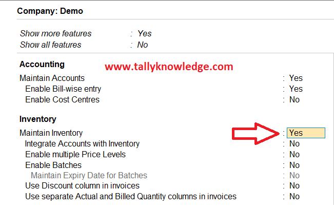 Inventory option