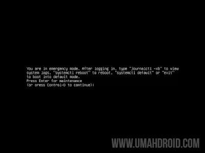 Tampilan Emergency Mode pada Ubuntu