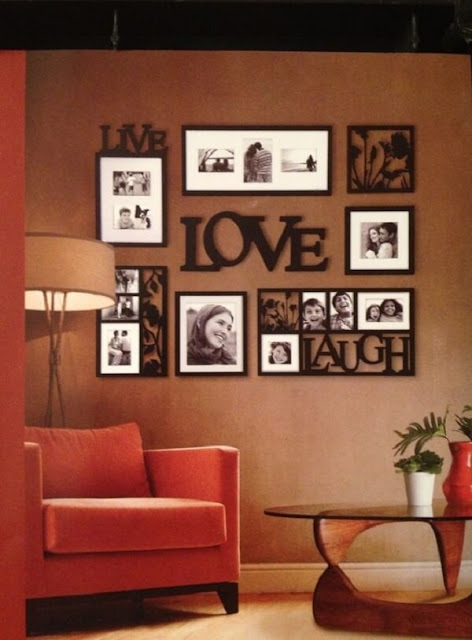 Photo frame with MDF letter
