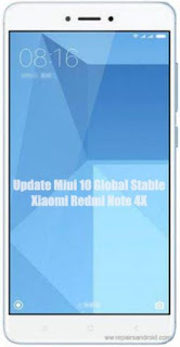 Update Xiaomi Redmi Note 4X Ke Miui 10 Global Stable Rom
